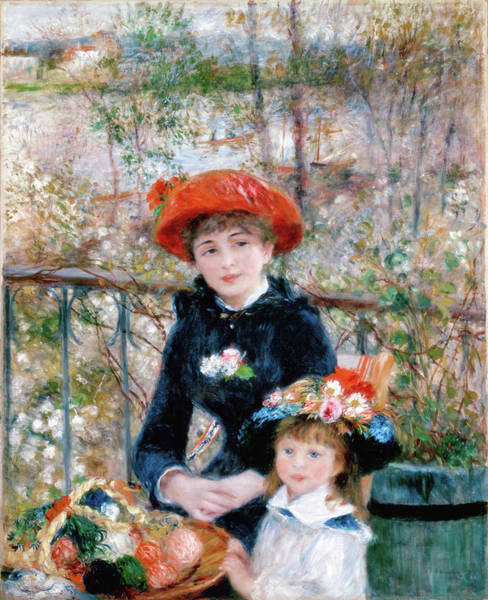 Painting - The Two Sisters On The Terrace by Pierre-Auguste Renoir
