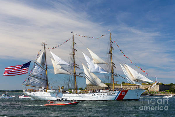 Photograph - The U. S. Coast Guard Barque Eagle  by Susan Cole Kelly
