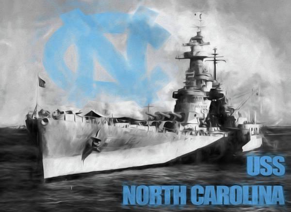 Digital Art - The U S S North Carolina by JC Findley