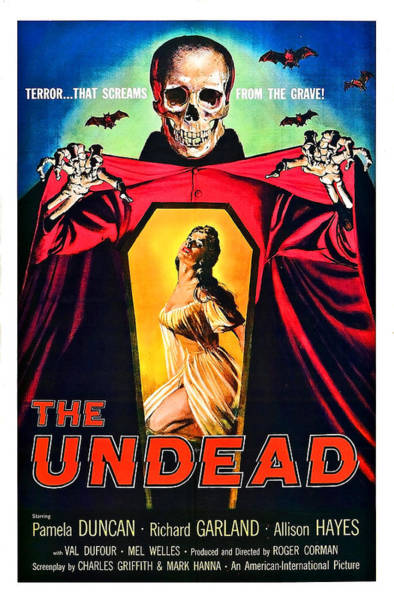 Undead Wall Art - Painting - The Undead, Horror Movie Poster by Long Shot
