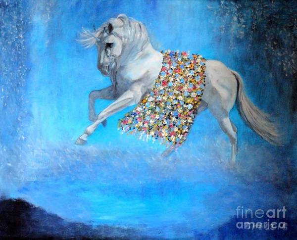 Painting - The Unicorn by Dagmar Helbig