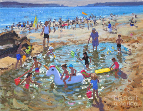 Wall Art - Painting - The Unicorn, Tenby by Andrew Macara