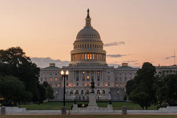 Photograph - The United States Capitol At Sunrise by Marvin Bowser