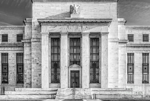 Photograph - The United States Federal Reserve Bw by Susan Candelario