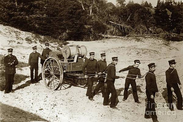 Photograph - The United States Life-saving Service Beach Hand-cart Circa 1890 by California Views Archives Mr Pat Hathaway Archives