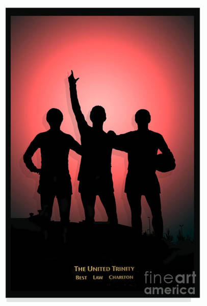 George Best Wall Art - Photograph - The United Trinity by John Rogers