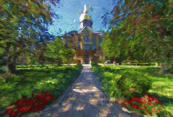 Wall Art - Painting - The University Of Notre Dame by Dan Sproul