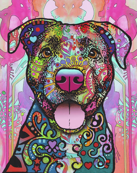 Pitbull Painting - The Unmistakable Pit Bull by Dean Russo Art