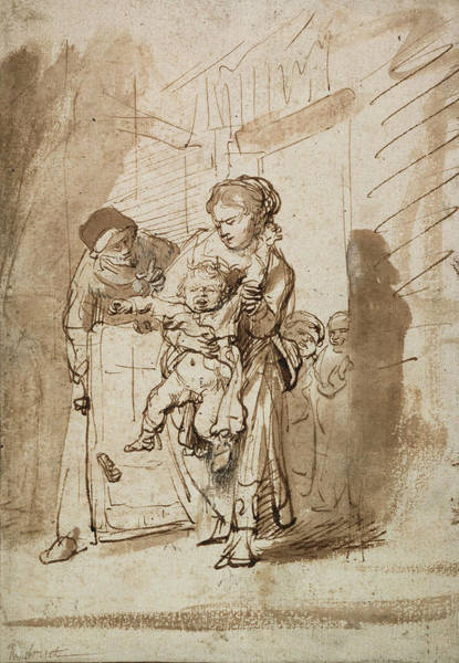 Baroque Drawing - The Unruly Child by Rembrandt