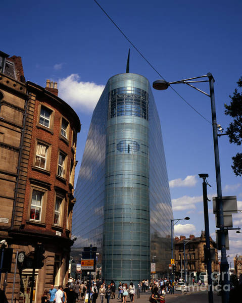 Greater Manchester Wall Art - Photograph - The Urbis Building  Home To The National Football Museum  Manchester England by Michael Walters