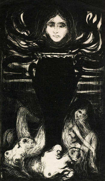 Drawing - The Urn by Edvard Munch