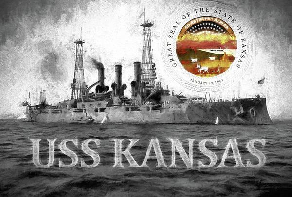 Digital Art - The Uss Kansas by JC Findley