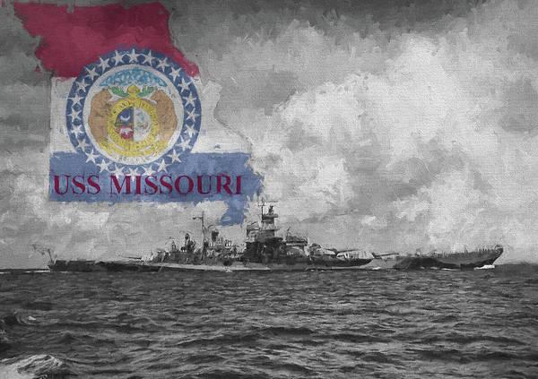 Digital Art - The Uss Missouri by JC Findley