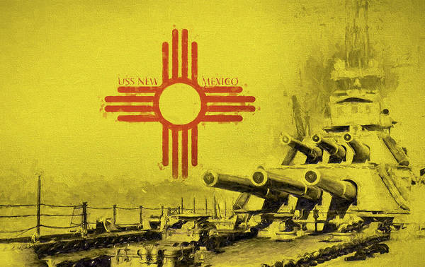Digital Art - The Uss New Mexico by JC Findley