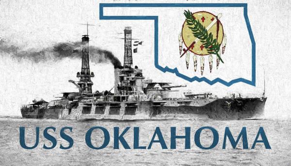 Digital Art - The Uss Oklahoma by JC Findley