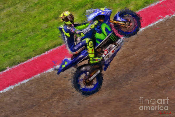 Photograph - The Valentino Rossi Taunting Stare by Blake Richards