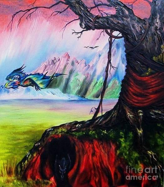 Painting - Where Dragons Dwell by Georgia's Art Brush
