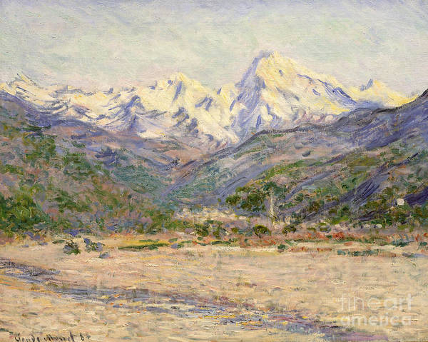 Terrain Painting - The Valley Of The Nervia, 1884  by Claude Monet