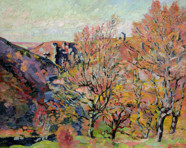 Turning Painting - The Valley Of The Sedelle In Crozant by Jean Baptiste Armand Guillaumin