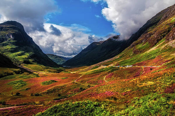 Glencoe Photograph - The Valley Of Three Sisters. Glencoe. Scotland by Jenny Rainbow