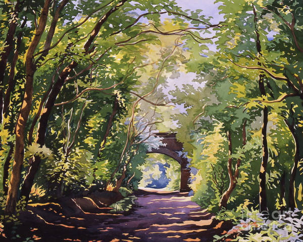 Dappled Light Painting - The Valley Walk, Sudbury by Christopher Ryland