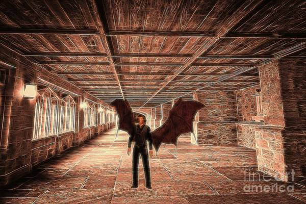 Satan Digital Art - The Vampire Abode by Raphael Terra