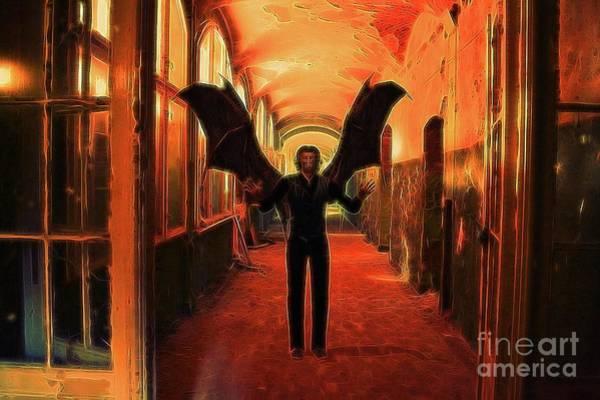 Satan Digital Art - The Vampire Beckons by Raphael Terra