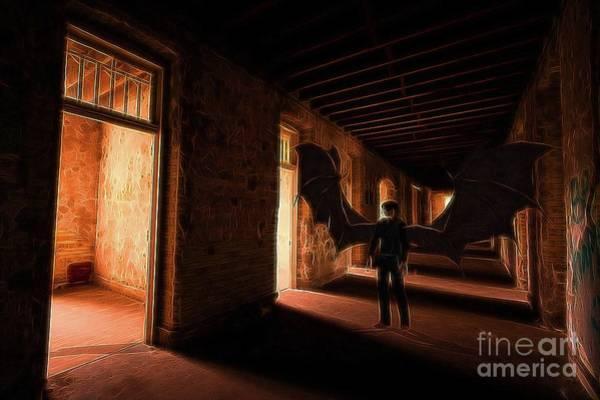 Satan Digital Art - The Vampire Hunts by Raphael Terra