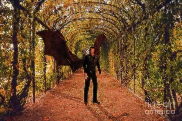 Satan Digital Art - The Vampire In The Garden by Raphael Terra