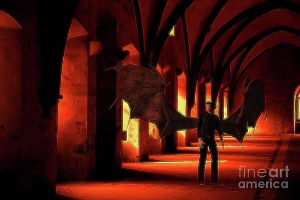 Satan Digital Art - The Vampire Stalks by Raphael Terra