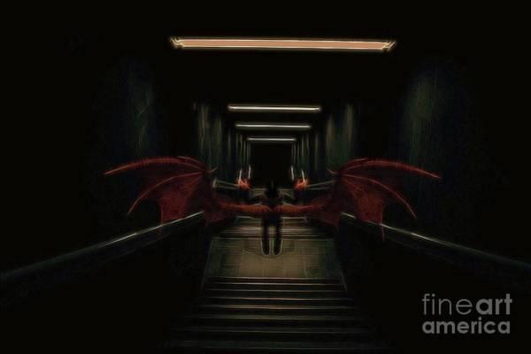 Satan Digital Art - The Vampire Waits by Raphael Terra