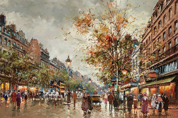 Wall Art - Painting - The Variety Theater by Antoine Blanchard
