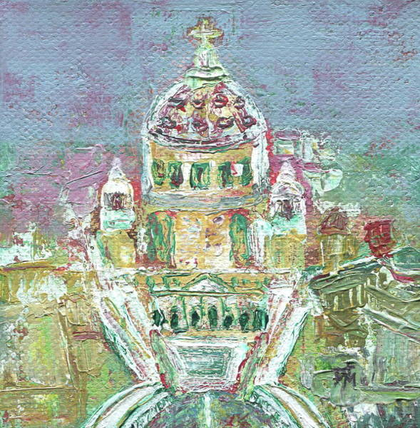 Church Yard Painting - The Vatican by Danielle Tayabas