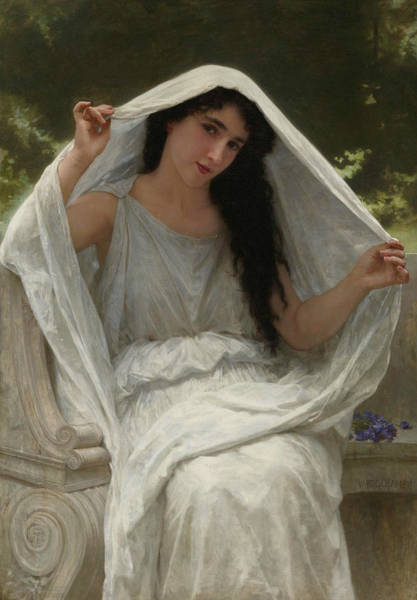 Painting - The Veil  by William-Adolphe Bouguereau