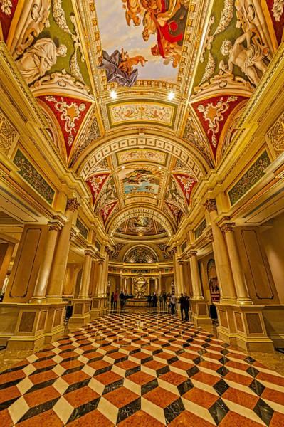Photograph - The Venetian Las Vegas Hall II by Susan Candelario