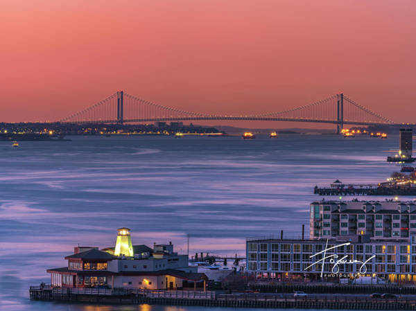 Photograph - The Verrazano Bridge At Sunrise by Francisco Gomez