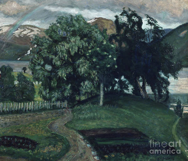 Nikolai Astrup Painting - The Vicarage Garden by O Vaering