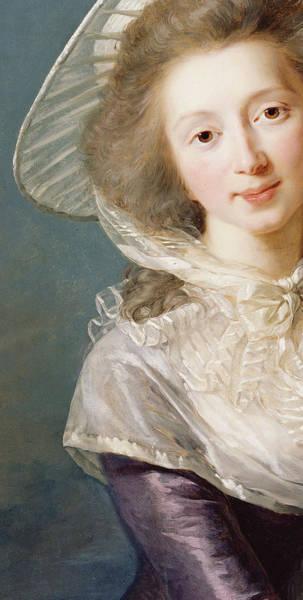 Blue Bonnets Painting - The Vicomtesse De Vaudreuil by Elisabeth Louise Vigee-Lebrun