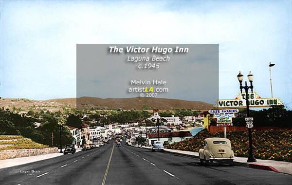 Wall Art - Painting - The Victor Hugo Inn Laguna Beach C1945 By Melvin Hale Artistla by Melvin Hale PhD - ArtistLA