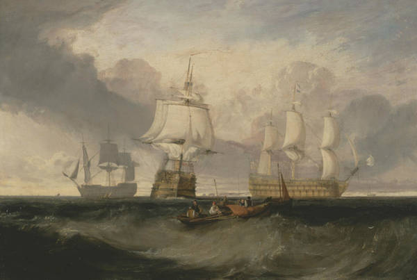 Painting - The Victory Returning From Trafalgar In Three Positions by Joseph Mallord William Turner