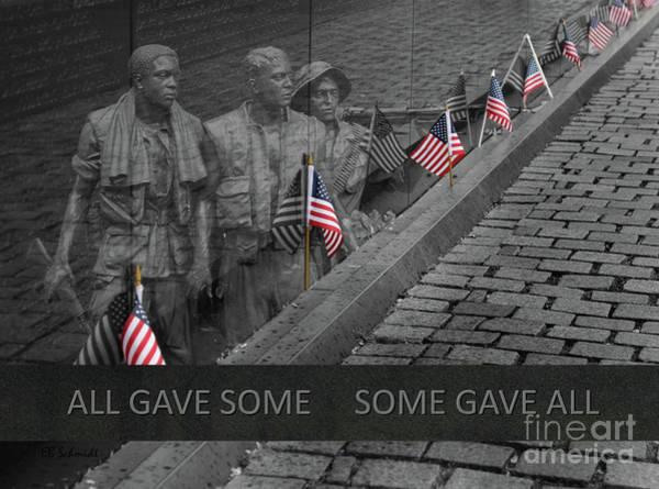Photograph - The Vietnam War Memorial by E B Schmidt