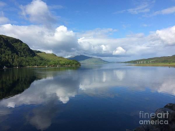 Eilean Donan Castle Painting - The View From Eilean Donan by Kathelen Fox Weinberg