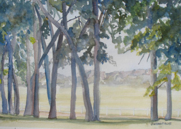 Nebraska Painting - The View From Fort Robinson by Jenny Armitage