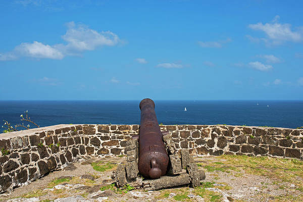 Photograph - The View From Fort Rodney On Pigeon Island Gros Islet Saint Lucia Cannon Back by Toby McGuire