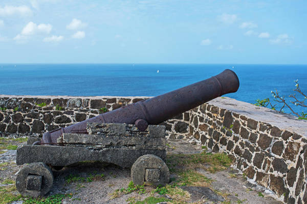 Photograph - The View From Fort Rodney On Pigeon Island Gros Islet Saint Lucia Cannon by Toby McGuire
