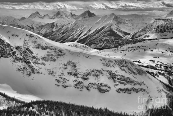 Photograph - The View From Goats Eye Mountain Black And White by Adam Jewell