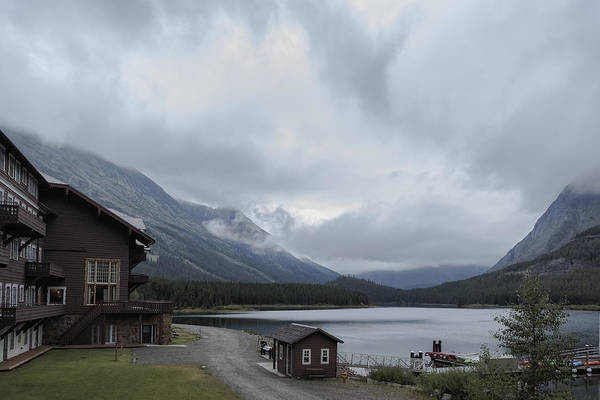 Photograph - The View From Many Glacier Hotel by Belinda Greb