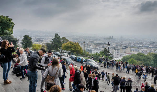 Photograph - The View From Montmartre Steps, Paris France by Perry Rodriguez