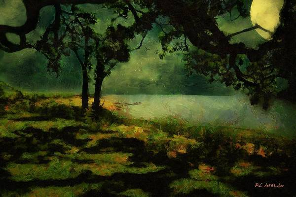 Painting - The View From Peter's Bench by RC DeWinter