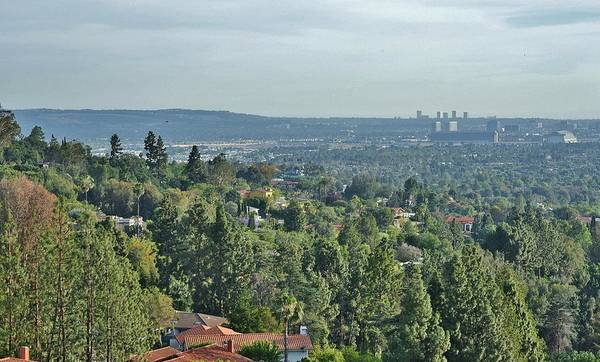 El Toro Photograph - The View From The Hills Above Tustin California by Linda Brody